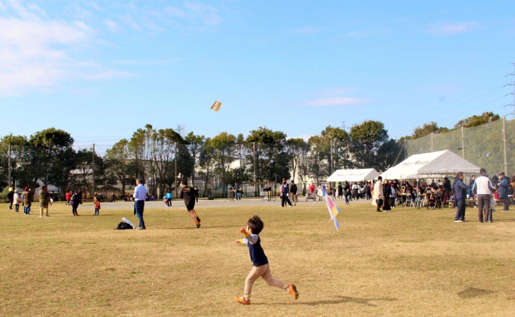新春凧あげ大会の写真
